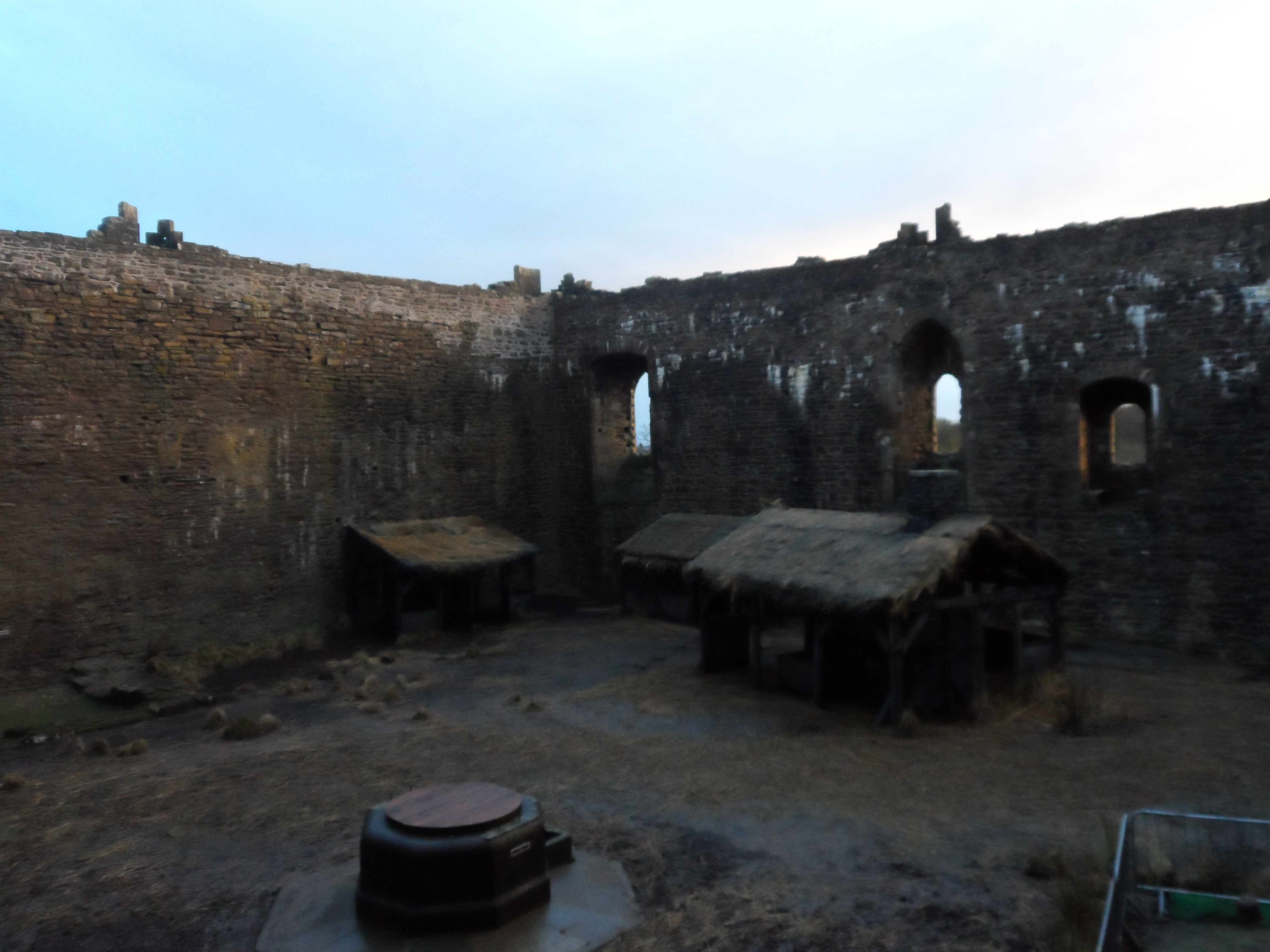 Courtyard of Castle Doune