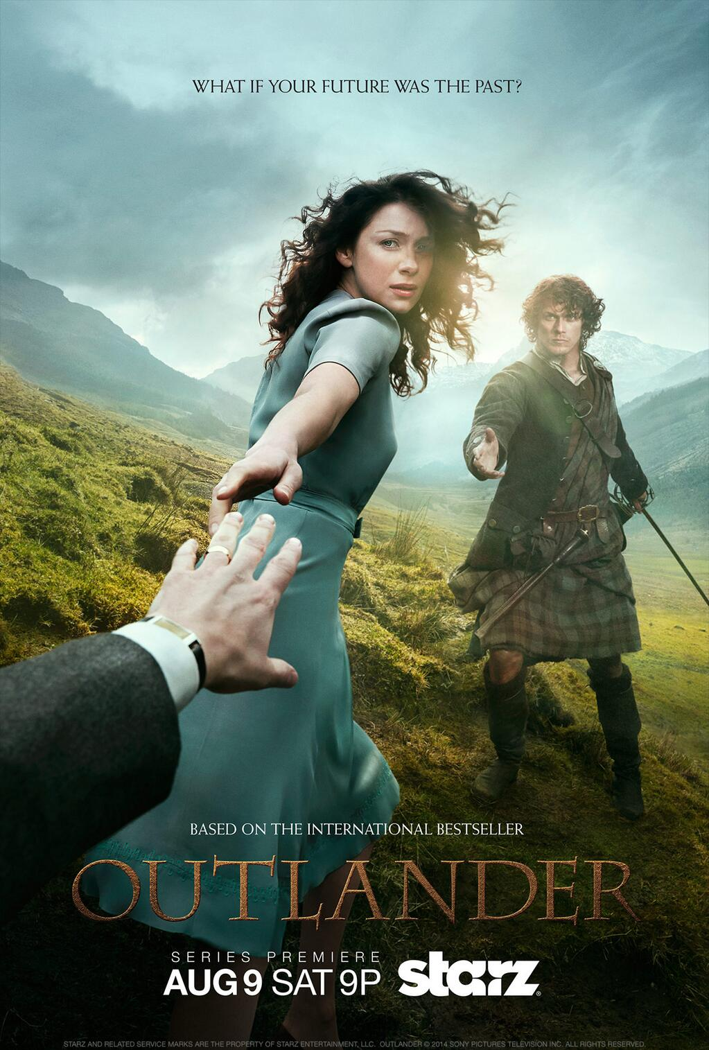 'Outlander' Starz poster with key art