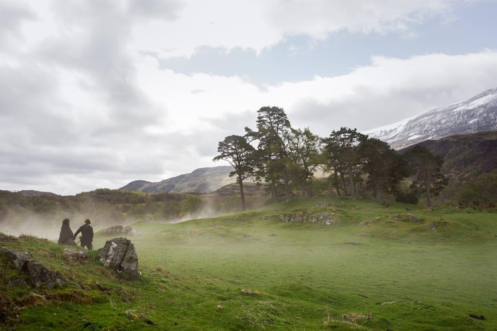 'Outlander' Season 1B, Claire Randall Fraser (Caitriona Balfe) and Sam Heughan (Jamie Fraser)