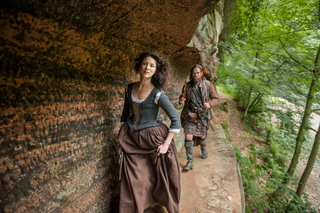 'Outlander' Season 1B, Claire Randall Fraser (Caitriona Balfe) and Murtagh Fitzgibbons (Duncan Lacroix)