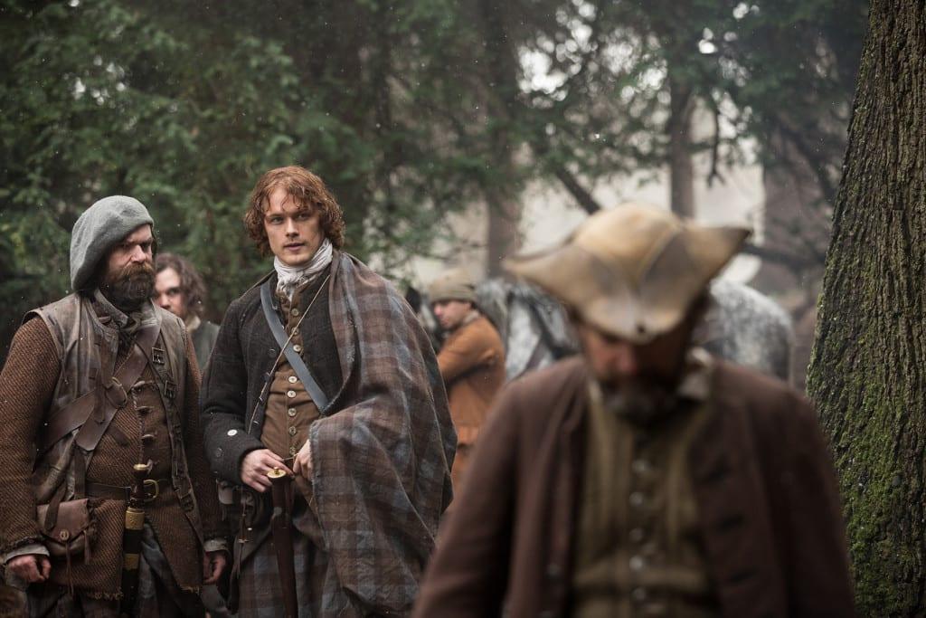 'Outlander' Season 1B, Jamie Fraser (Sam Heughan) and Murtagh Fitzgibbons (Duncan Lacroix)