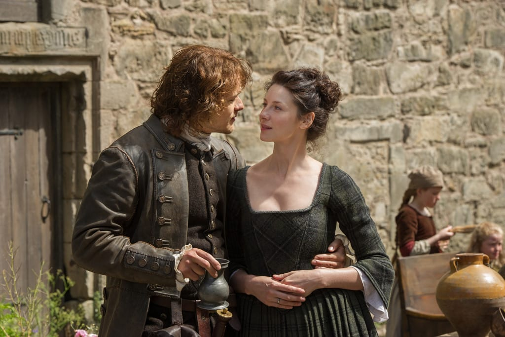 Sam Heughan and Caitriona Balfe (Jamie Fraser and Claire Randall Fraser)