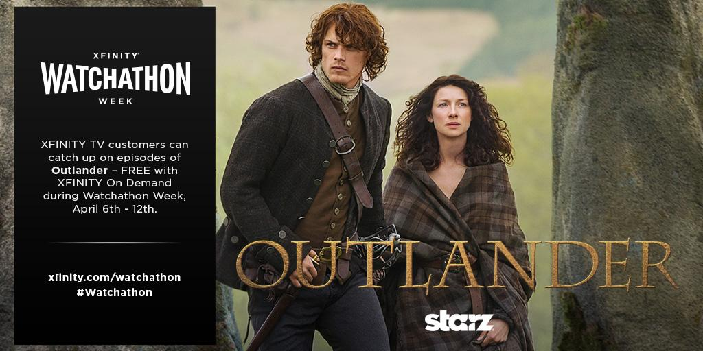XFINITY Watchathon Week includes sweepstakes with 'Outlander'-themed trip