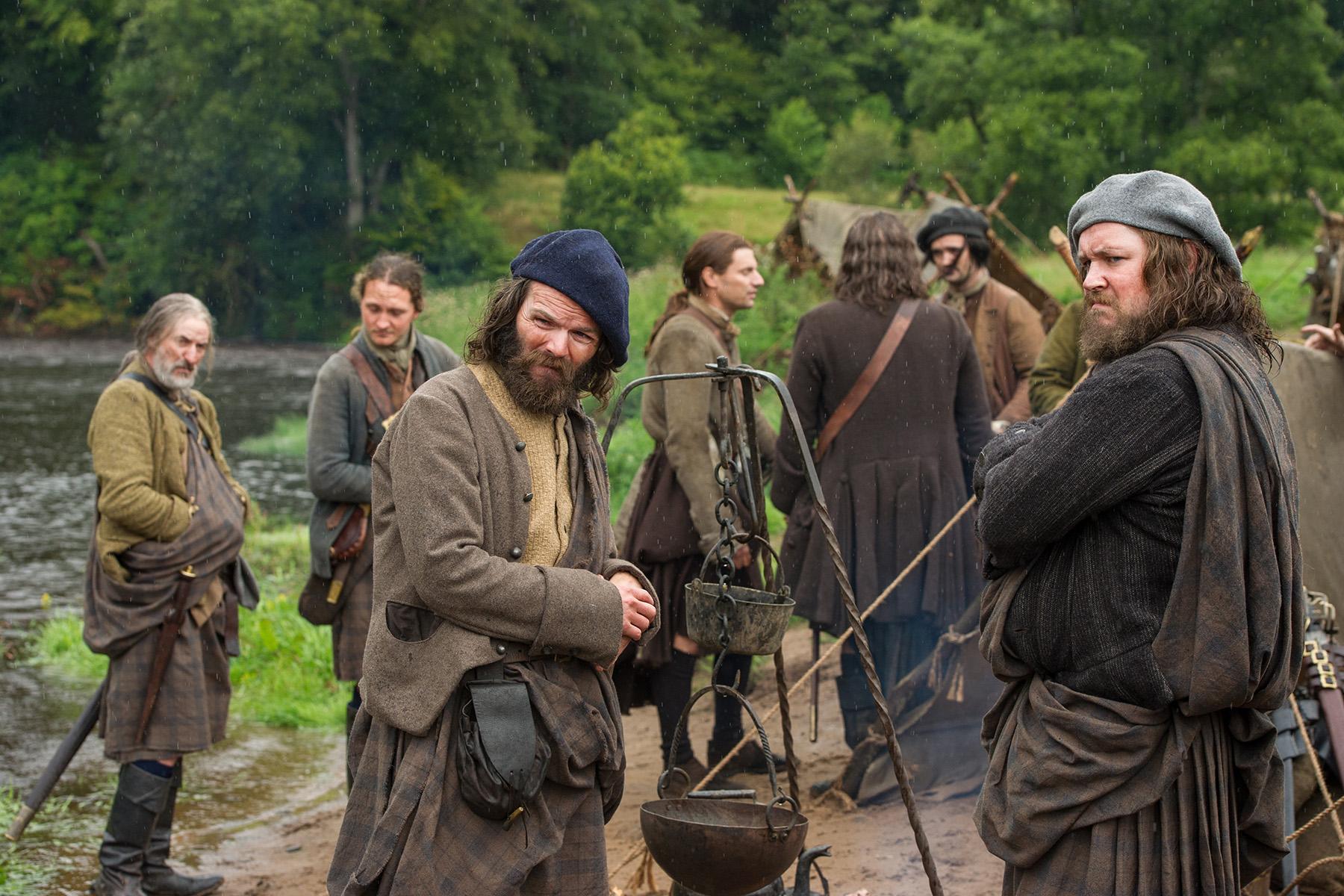 Angus Mhor (Stephen Walters) and Rupert MacKenzie (Grant O'Rourke)