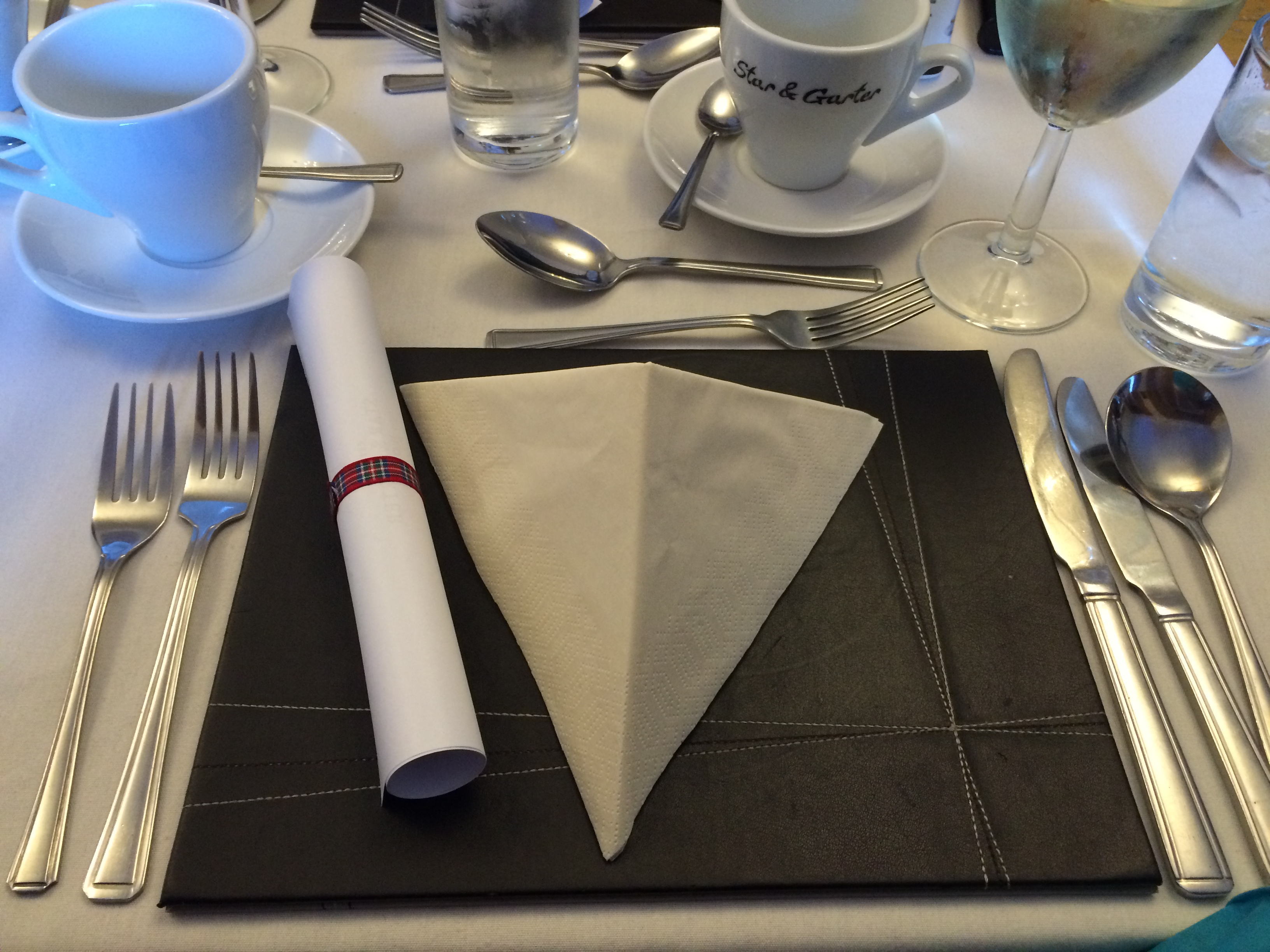 A place setting at A Taste of Outlander