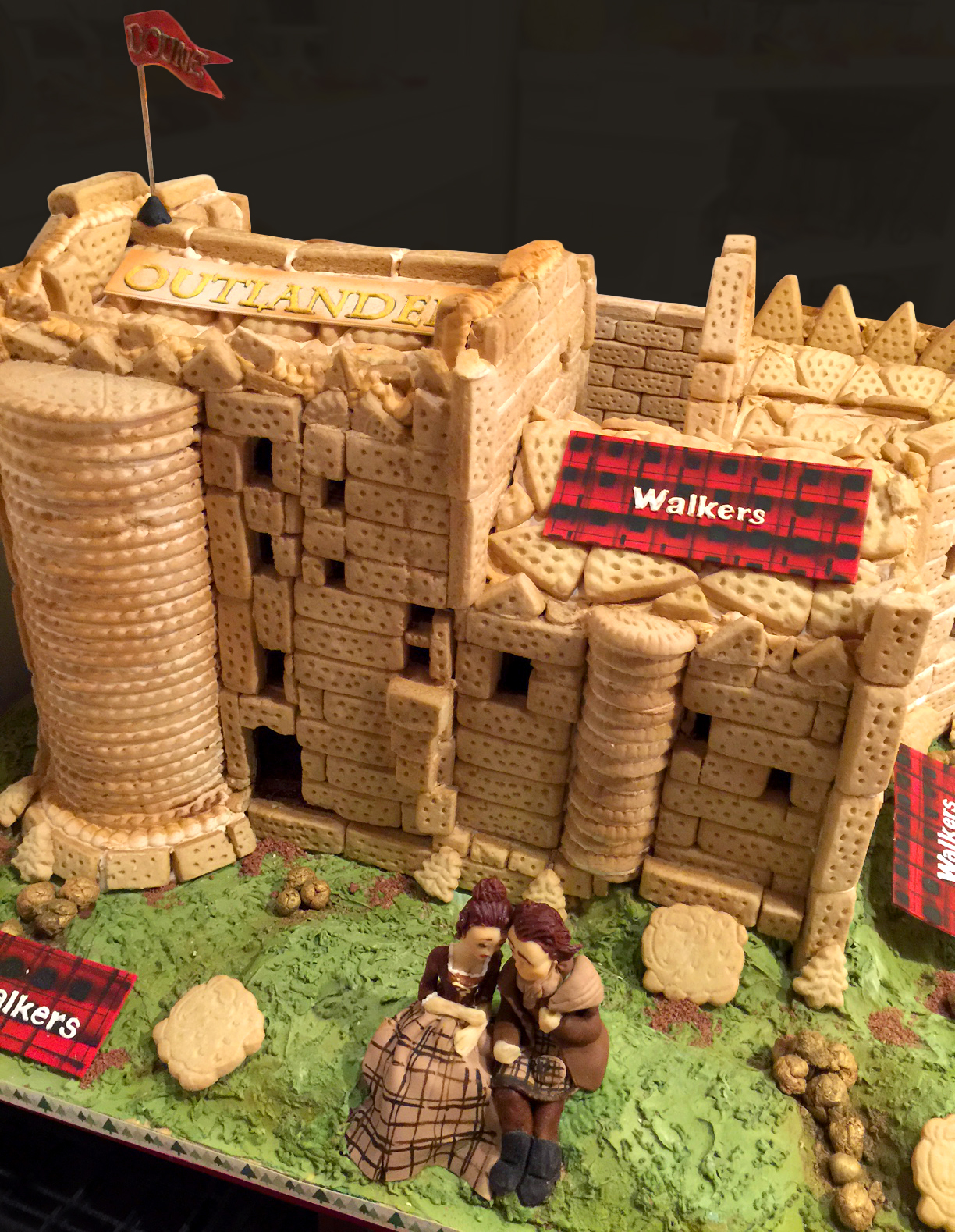 Outlander's Castle Leoch recreated out of Walkers shortbread