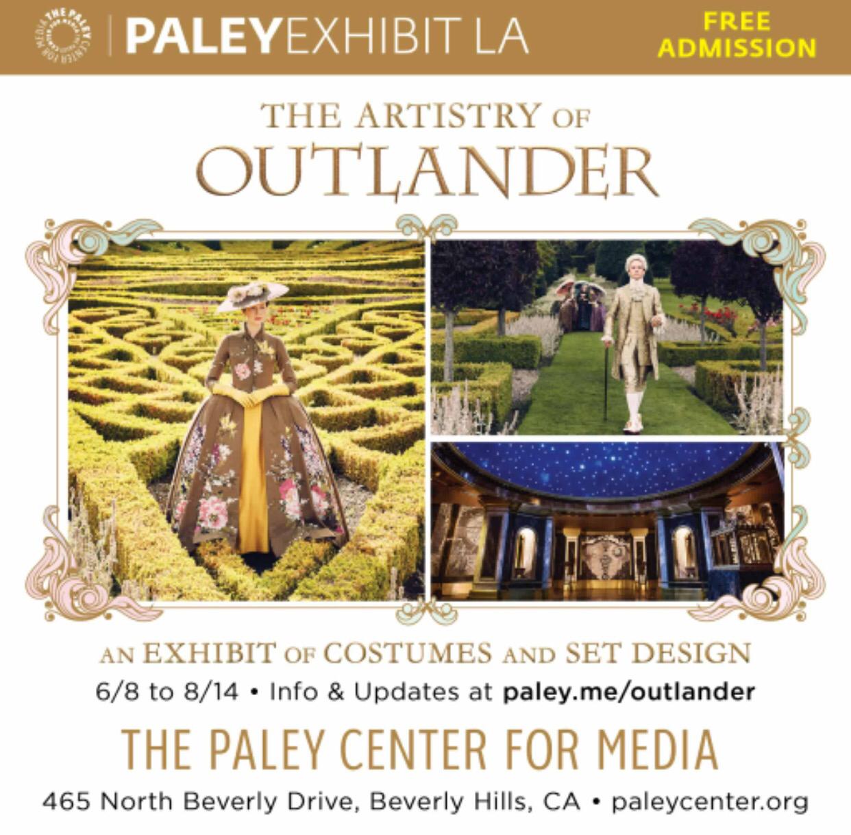 Paley  Fest LA Outlander Exhibit