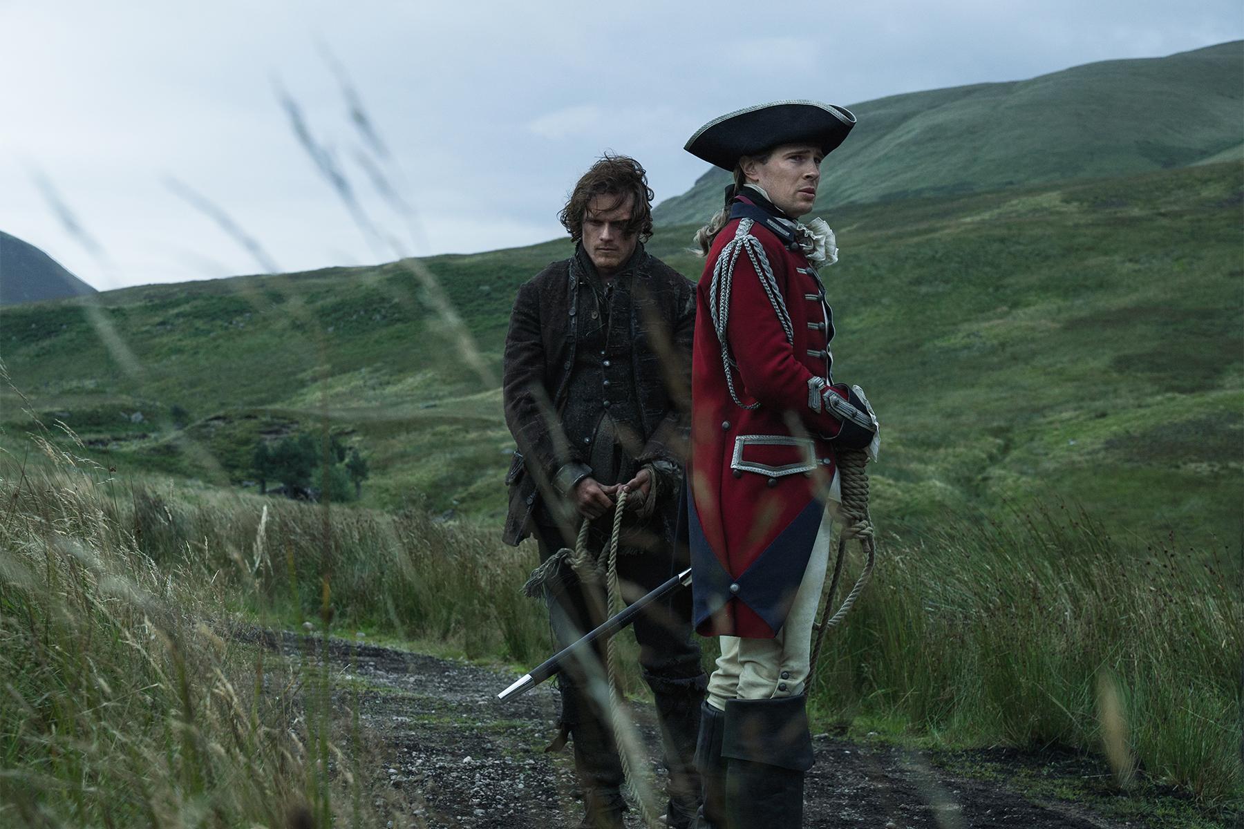 Sam Heughan (Jamie Fraser) and David Berry