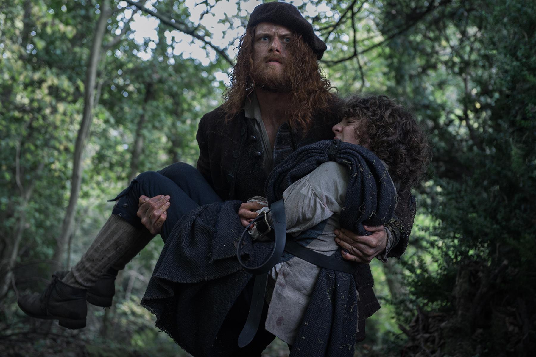 Jamie Fraser (Sam Heughan), Fergus (Romann Berrux)